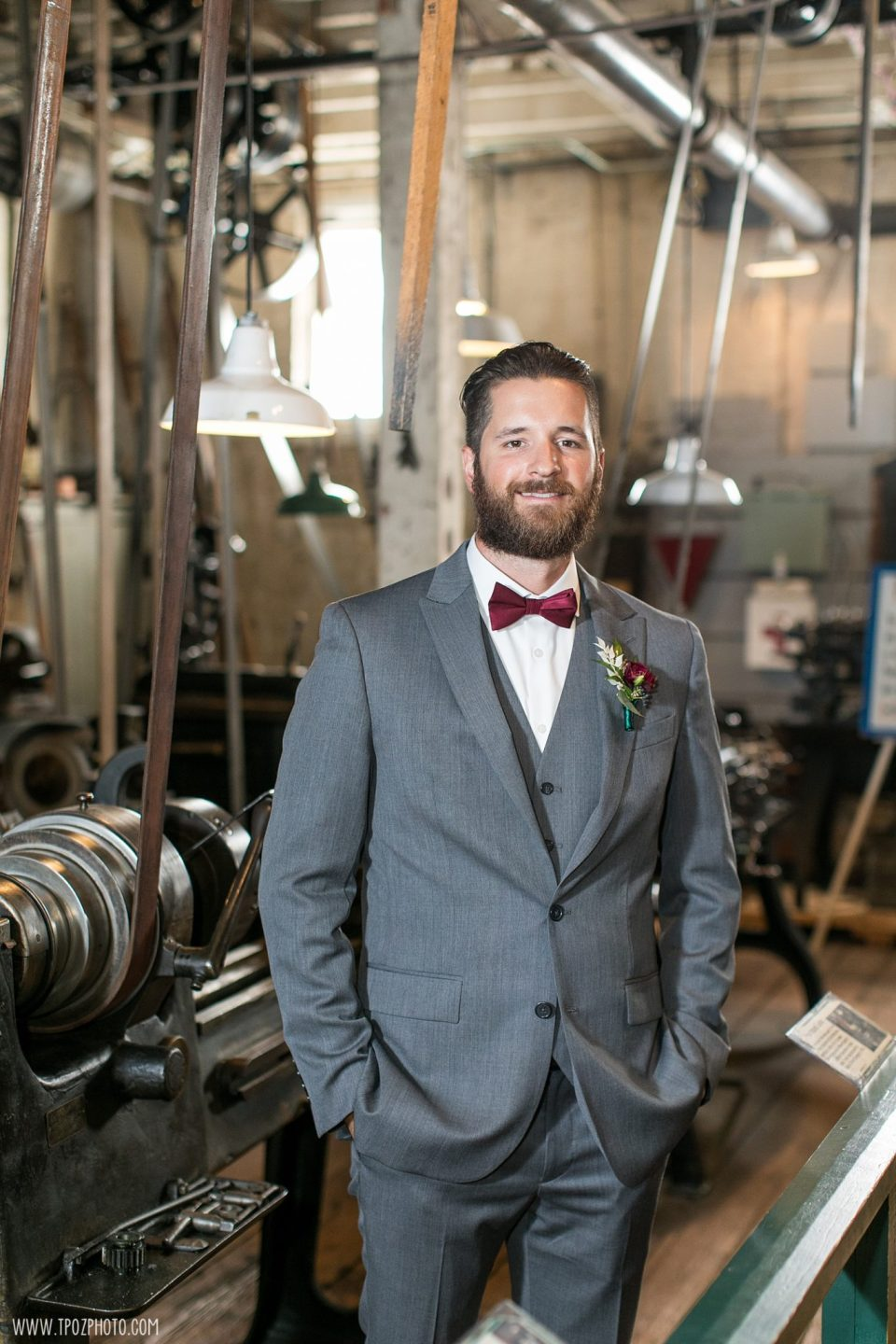Wedding Party Photos at the Baltimore Museum of Industry