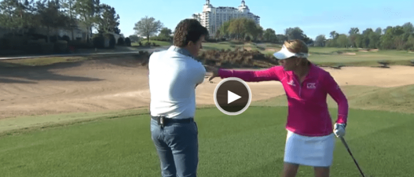 Driver lesson with Annika Sorenstam