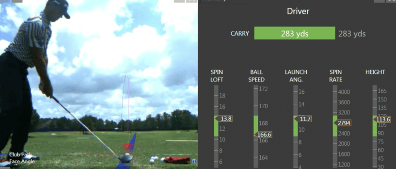 Billy Horschel on the TrackMan Optimizer