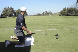 World Long Drive Champion Jamie Sadlowski hits the ball over 300 yards FROM HIS KNEES!