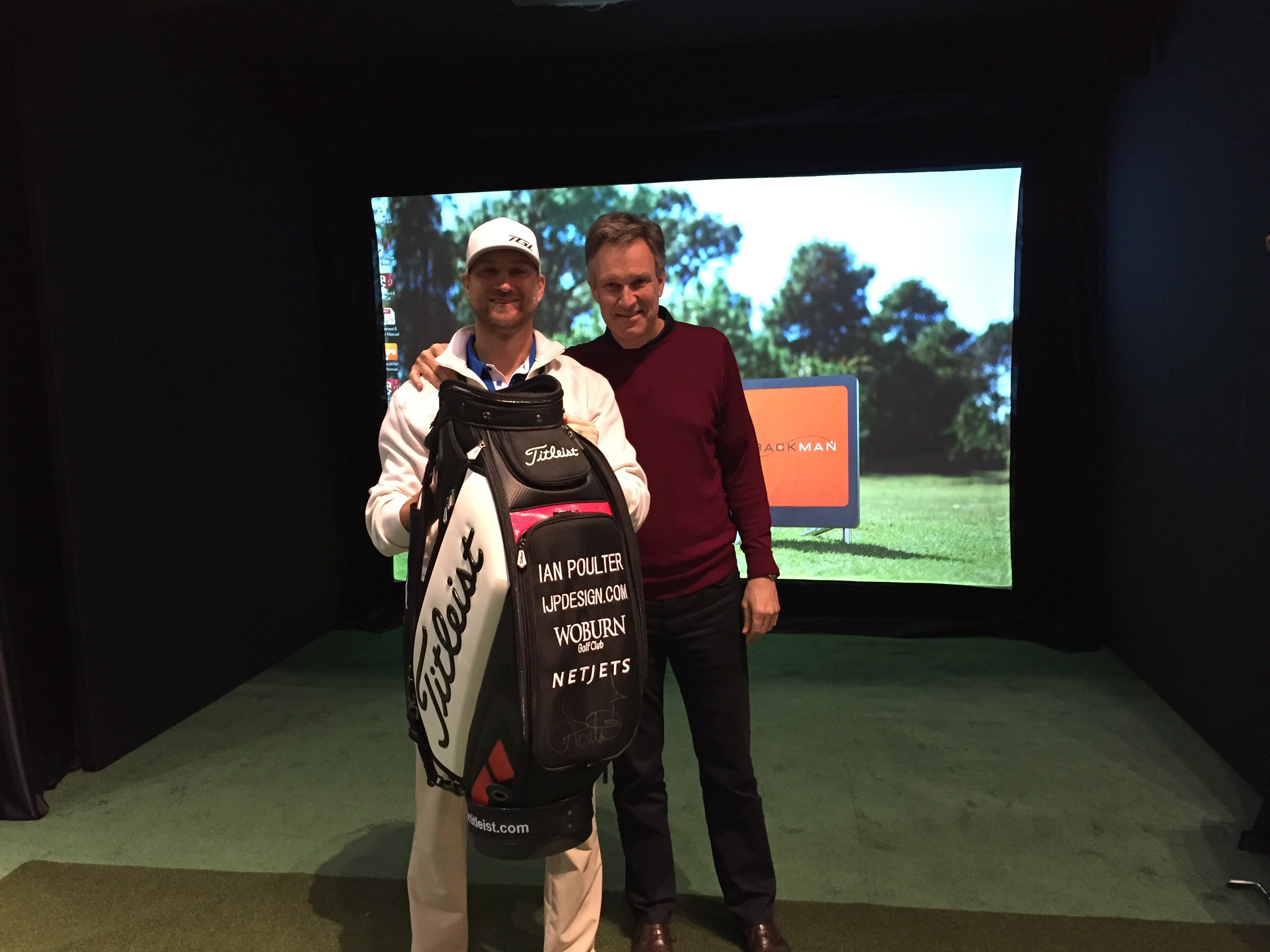 TrackMan Simulator Ian Poulter Staff bag winner