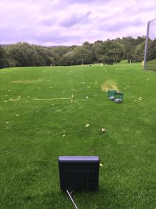 Range ball Study setup outdoor