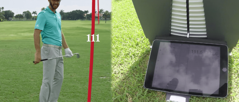 Dustin Johnson vs TrackMan