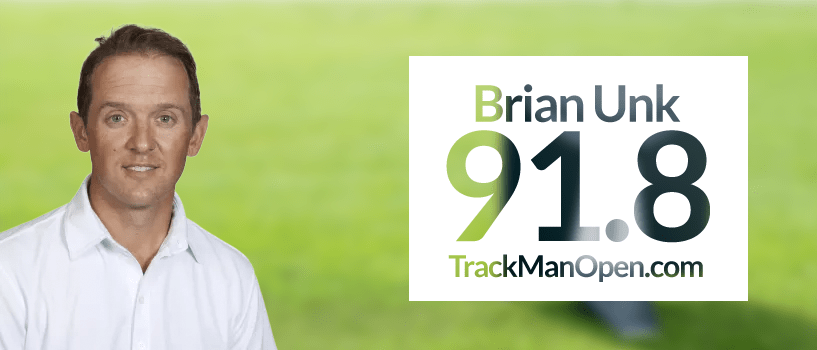 Brian Unk – TrackMan Open Winner September
