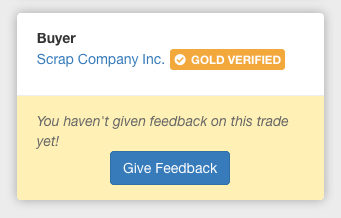 Use the Give Feedback button after selecting a trade to leave your review.