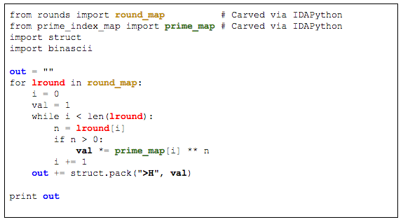 Main IDAPython Script