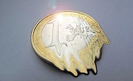 Zerfließender Euro