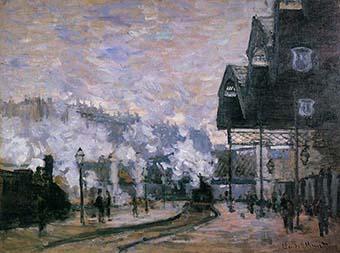 Pintura de Claude Monet: Gare Saint-Lazare