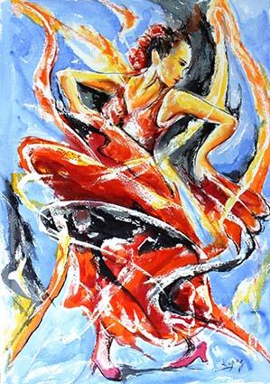 """""""Vision de flamenco"""", de Jean-Luc Lopez."""