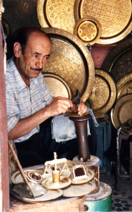 Fes-Man-In-Old-Medina-Brass-Working
