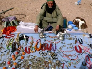 Man from Atlas Mountains with Antique Silver for Sale, Ouarzazate, Morocco