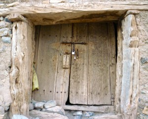 Door to Berber Granary, Sidi Moussa Ait Bougumez