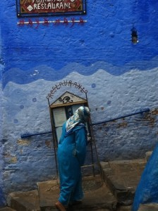 Chefchaouen, Woman in Medina