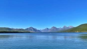 Glacier national park Lake Mcdonalds 區域湖景