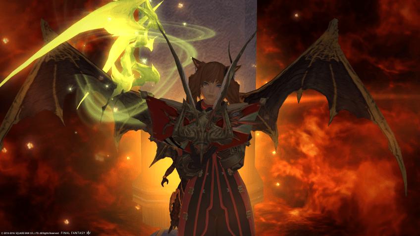 My old character, Yayoi as a Heavensward summoner