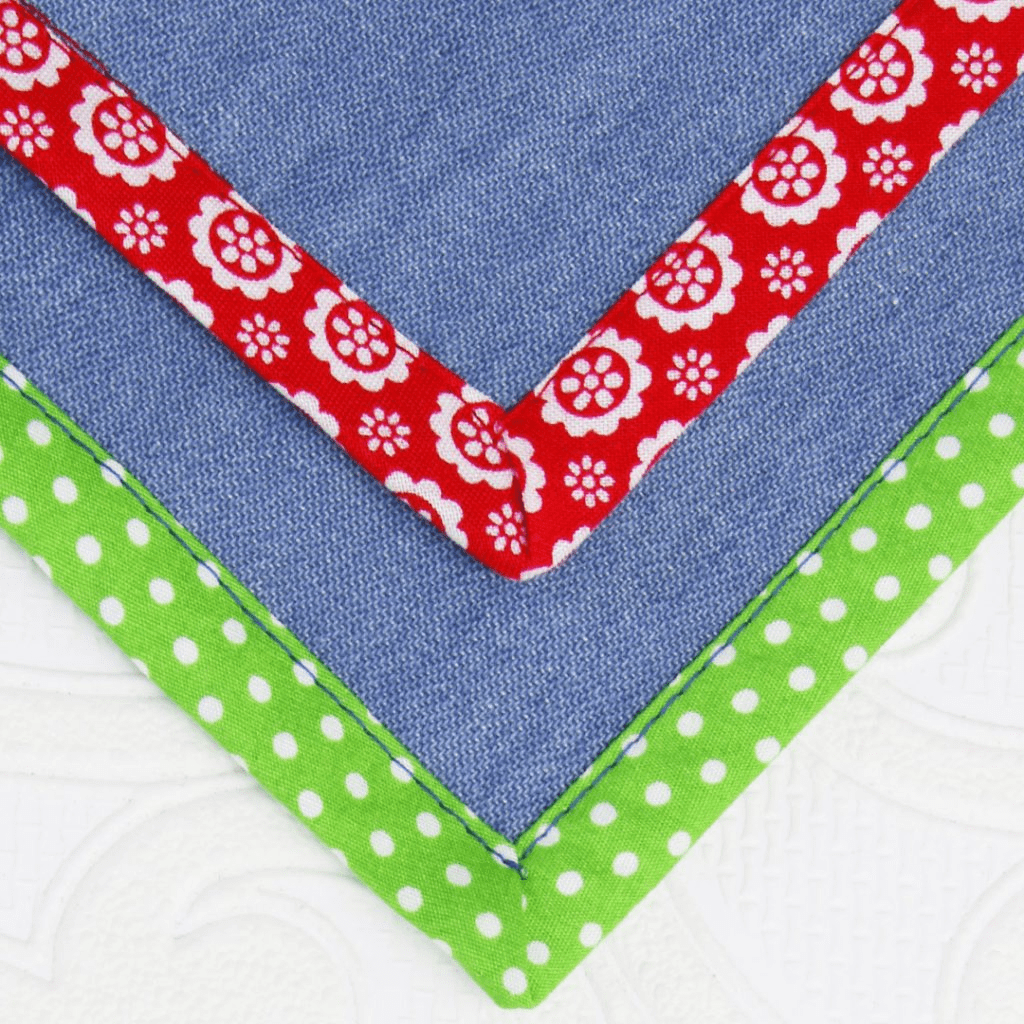how to sew bias tape corners