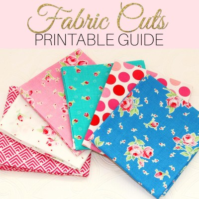What is a Fat Quarter – Quilting Fabric Sizes – FREE Printable Chart