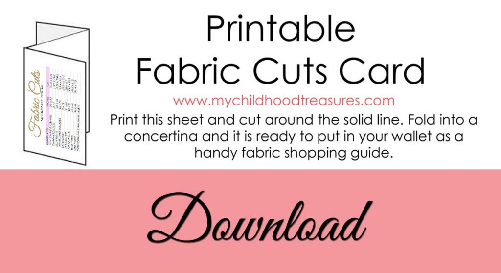 What is a Fat Quarter Printable Chart