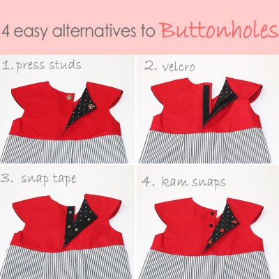 Alternatives to Buttonholes – 4 Easy Methods