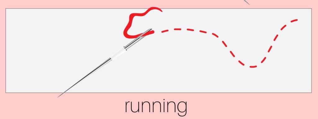how to sew running stitch