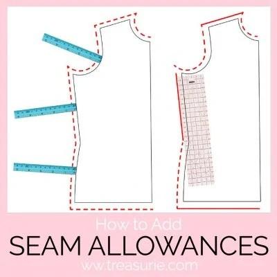 seam allowance, how to add seam allowance