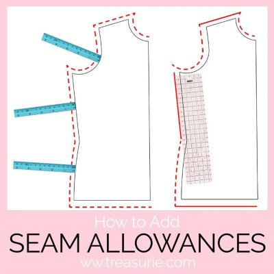 seam allowance, how to add seam allowance