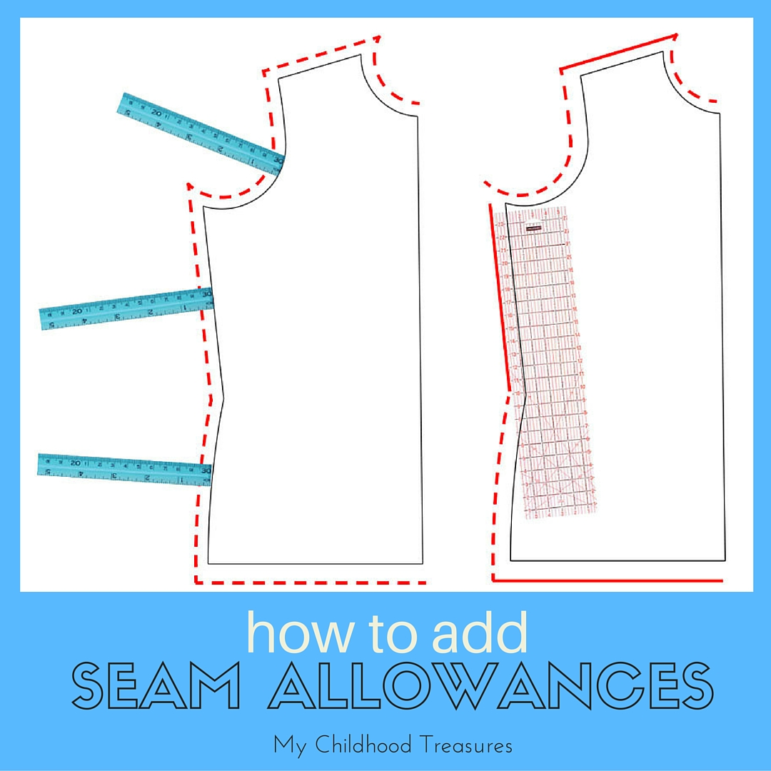 How To Add Color To Neutral Living Room: How To Add Seam Allowance To Sewing Patterns