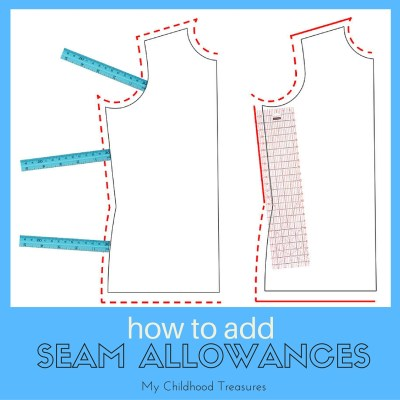 How to Add Seam Allowance to Sewing Patterns
