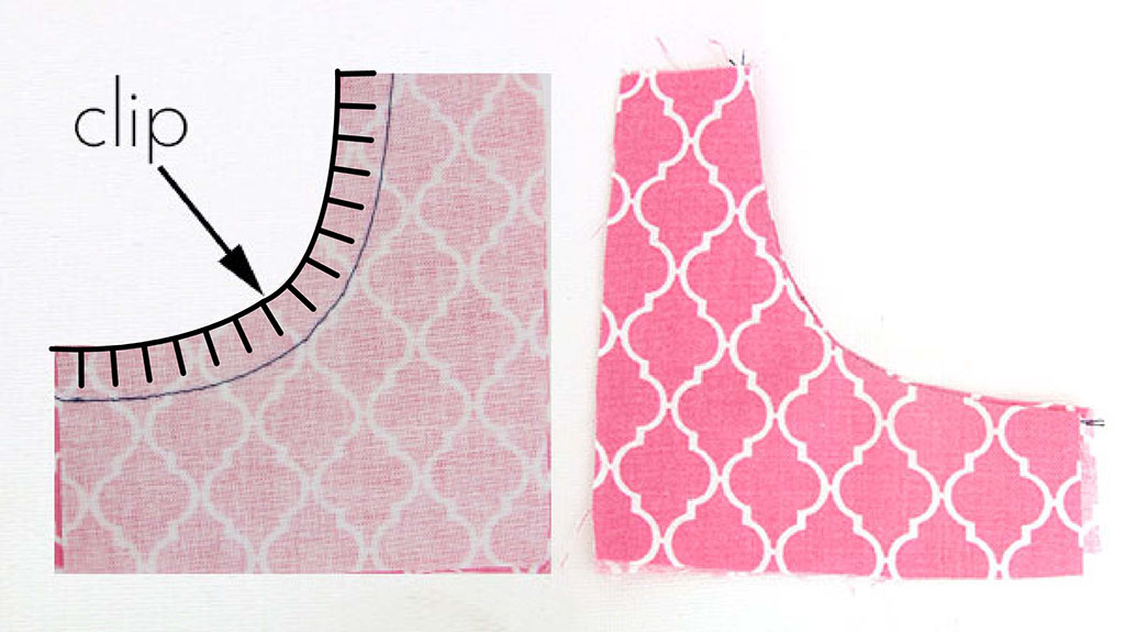 how to clip concave curves for sewing