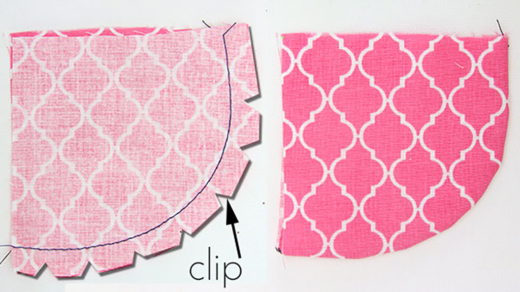 how to clip convex curves for sewing