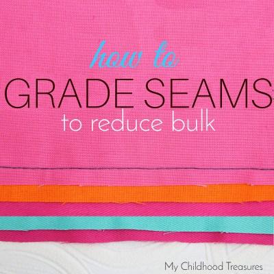 how to grade seams to reduce bulk