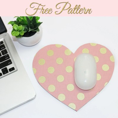 Fabric Covered Mouse Pad Tutorial: Free Printable TEMPLATE
