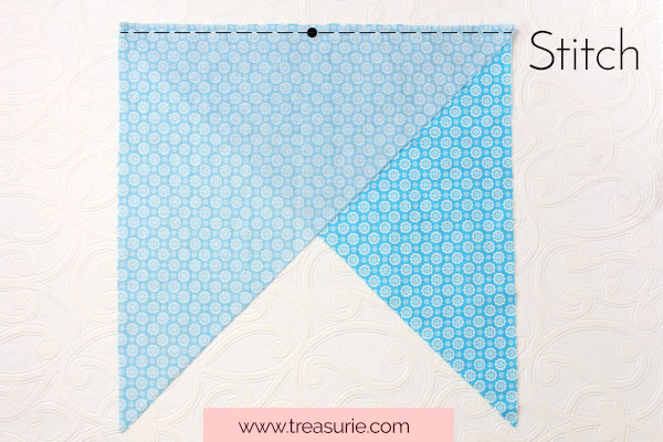 Stitch the Triangles Right Sides Together