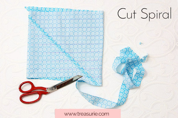 Cut Continuous Bias Tape Strips