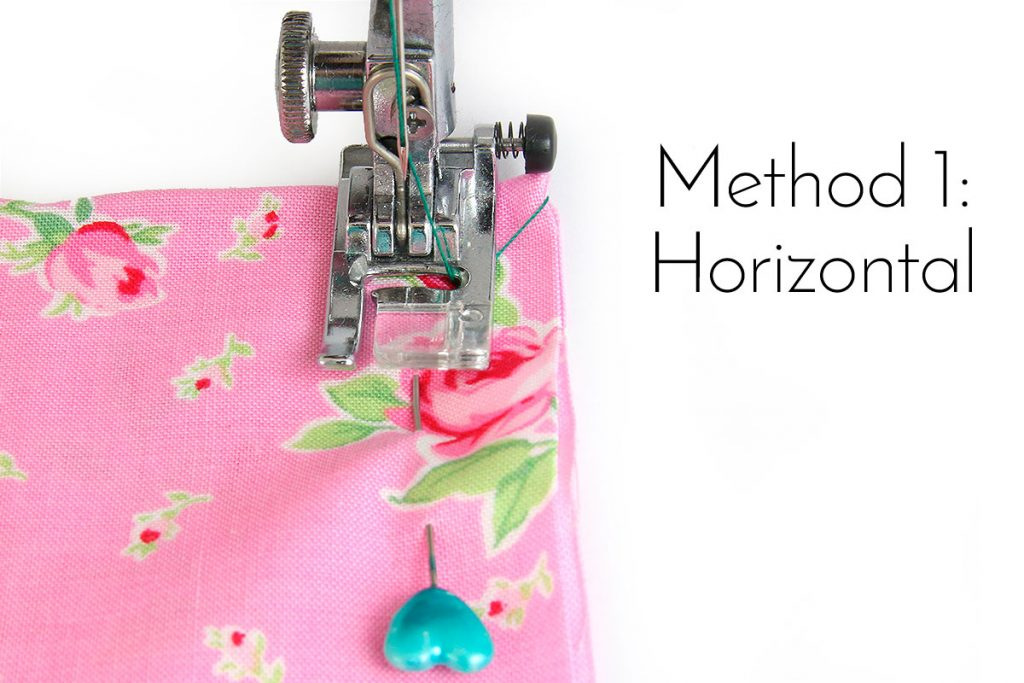 How to Pin Fabric with Horizontal Pins