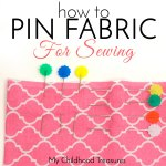 how to pin fabric for sewing