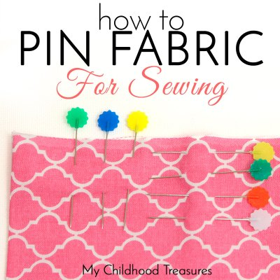How to Pin Fabric before Sewing a Seam – 2 ways