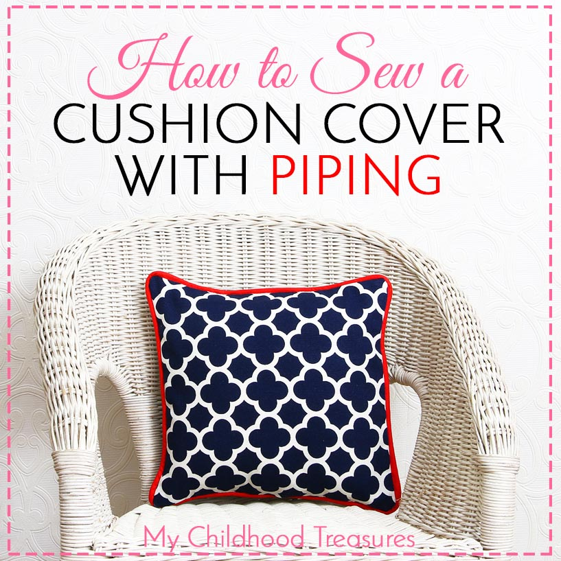 how to make a cushion cover with piping