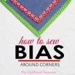 how to sew bias around corners