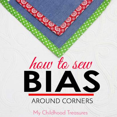 how to sew bias around corners