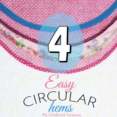 how to sew a circular hem