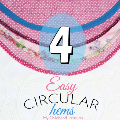 How to Sew a Circular Hem (Round Hem) 4 Easy Ways