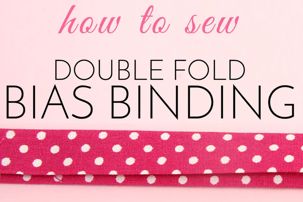 how to sew double fold bias