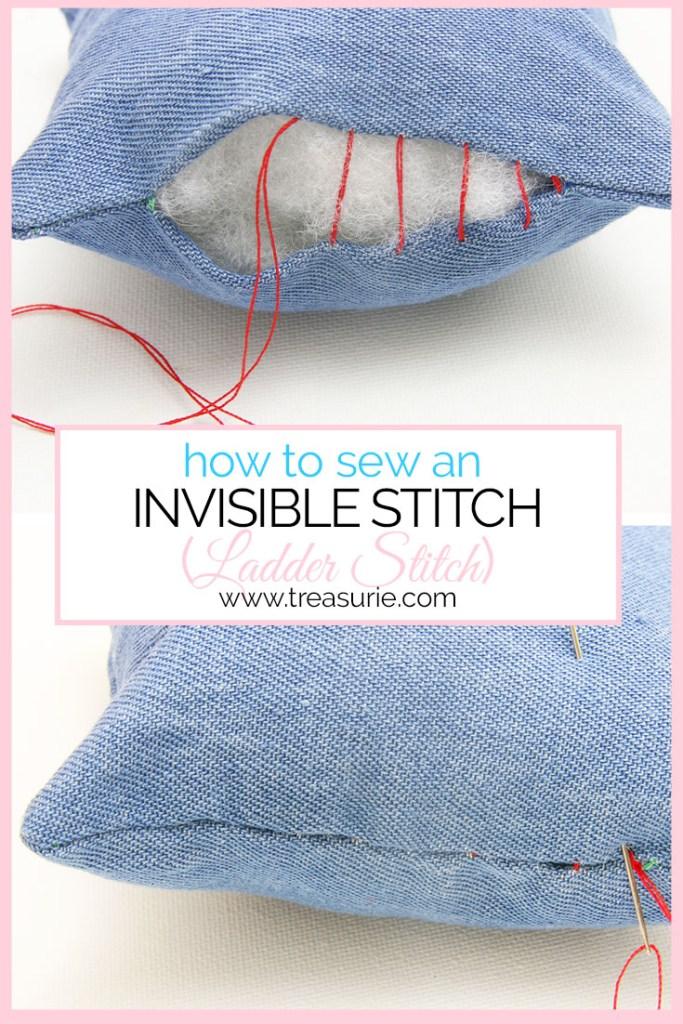 ladder stitch, invisible stitch, slip stitch