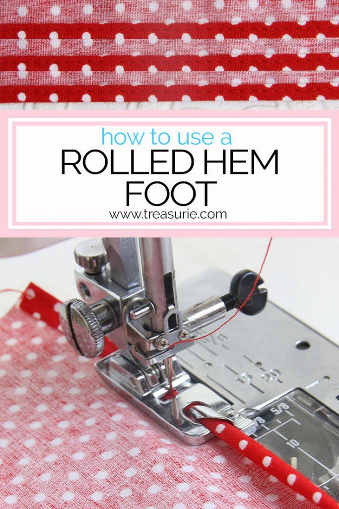 rolled hem foot, hemmer foot, narrow hem foot