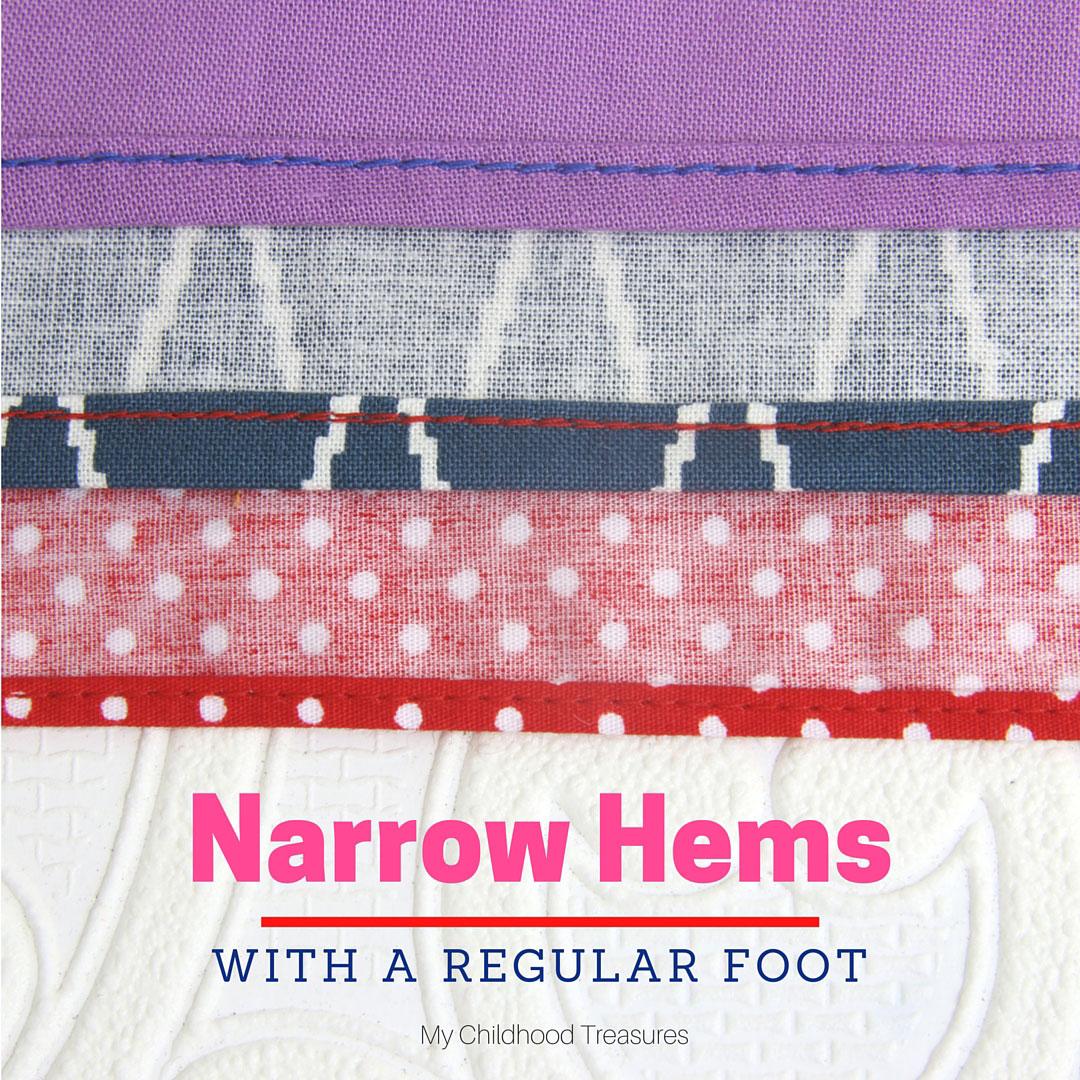 rolled hem tutorial how to sew a narrow hem 2 ways treasurie. Black Bedroom Furniture Sets. Home Design Ideas