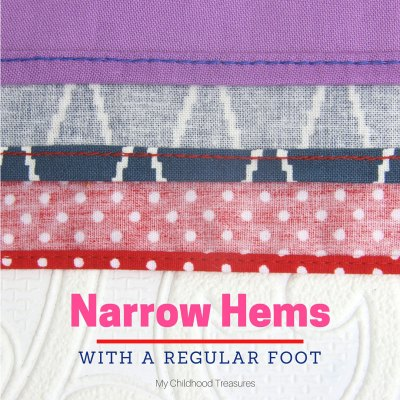 Rolled Hem Tutorial: How to Sew a Narrow Hem – 2 ways