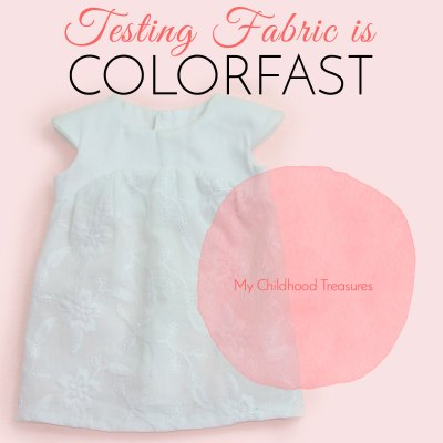colorfast how to test fabric