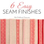 how to finish sewing seams