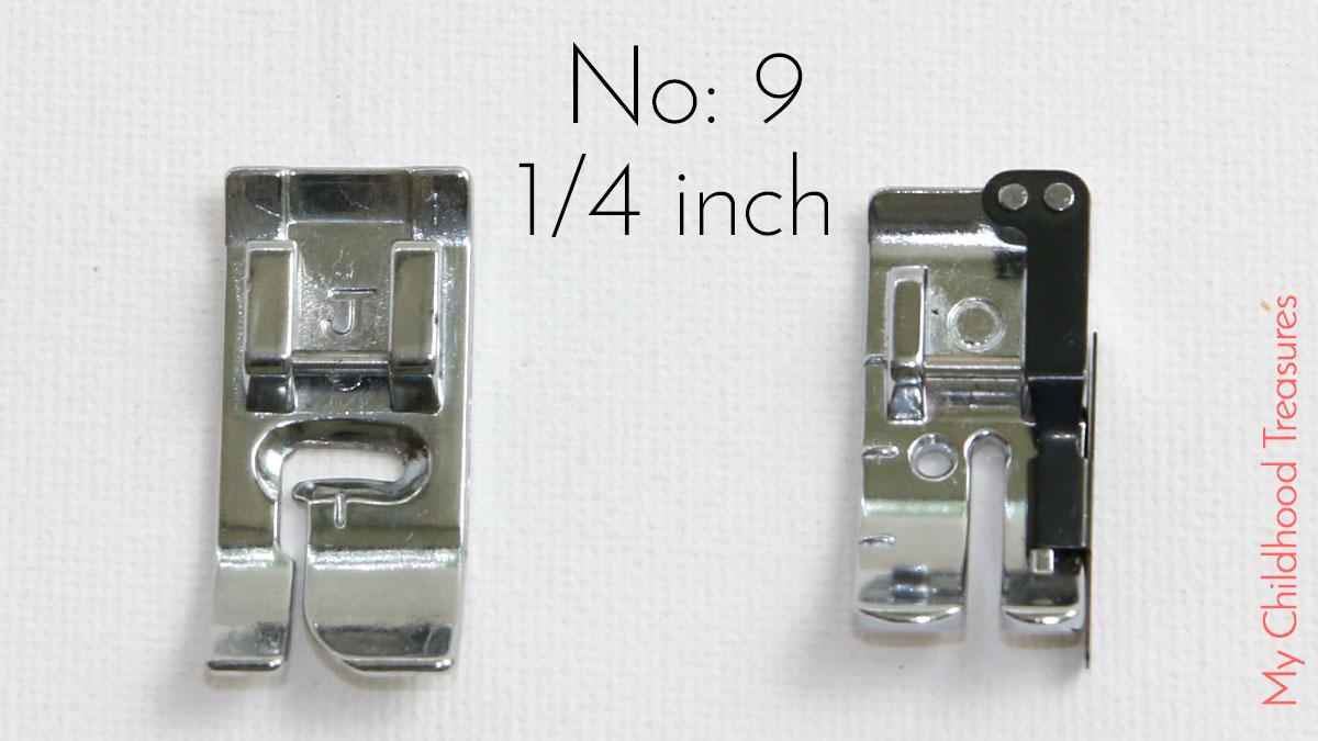 1/4 inch machine foot